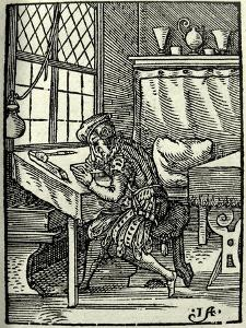 The Woodblock Cutter, 1568 by Jost Amman