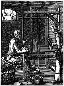 Weaver, 16th Century by Jost Amman