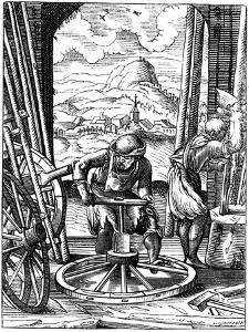 Wheelwright, 16th Century by Jost Amman