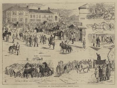 Jottings at the Horncastle Horse Fair-Alfred Chantrey Corbould-Giclee Print