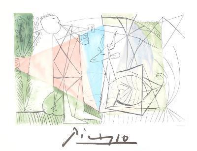 Jouer de Flute et Gazelle-Pablo Picasso-Collectable Print