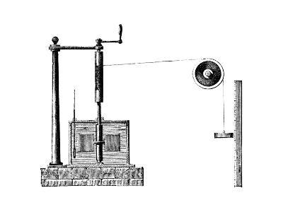 Joule's Apparatus for Determining the Mechanical Equivalent of Heat, 1872--Giclee Print