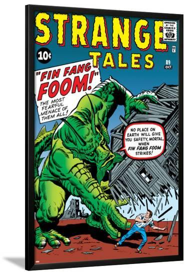 Journey Into Mystery No.62 Cover: Fin Fang Foom-Jack Kirby-Lamina Framed Poster