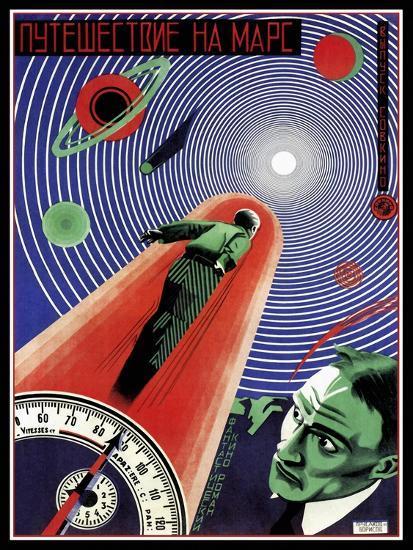 Journey To Mars Russian Constructivist-Vintage Lavoie-Giclee Print