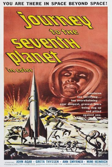 JOURNEY TO THE SEVENTH PLANET, poster art, 1962--Art Print