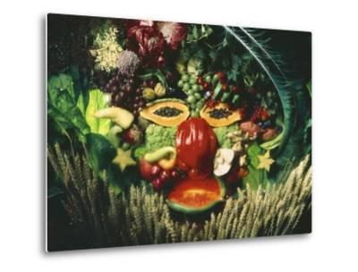 A Face Made from Vegetables and Fruit
