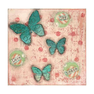 Joy Peace Butterflies-Cassandra Cushman-Art Print