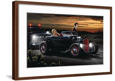 Joy Ride  by Helen Flint Poster Print 36x24 Image:  32x20