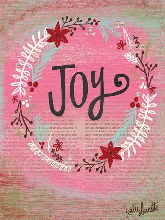 Joy Wreath-Katie Doucette-Art Print