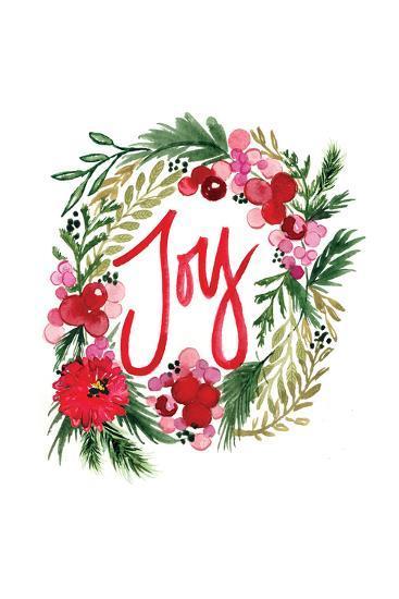 Joy Wreath Art Print Sara Berrenson Art Com