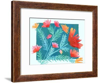 Joy-Modern Tropical-Framed Art Print