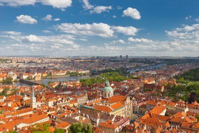 Aerial View of Old City Center of Prague (Unesco Site) by joymsk