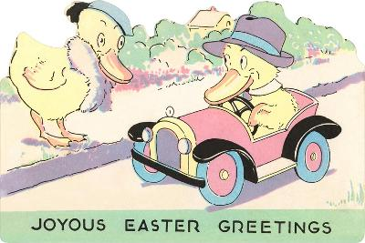 Joyous Easter Greetings, Ducks--Art Print