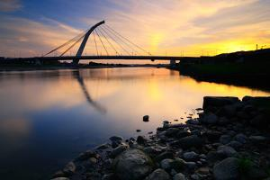 Refelction of Dazhi Bridge at Sunset by Joyoyo Chen