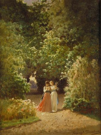 Strolling Women in the Park, 1873