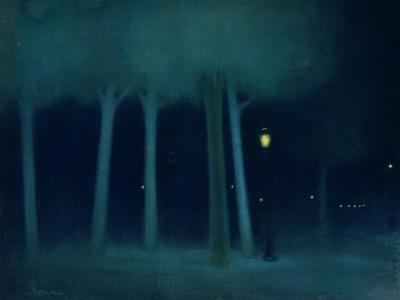 A Park at Night, circa 1892-95