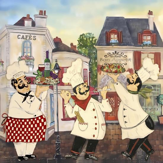 JP3042-Italian Chefs-Jean Plout-Giclee Print