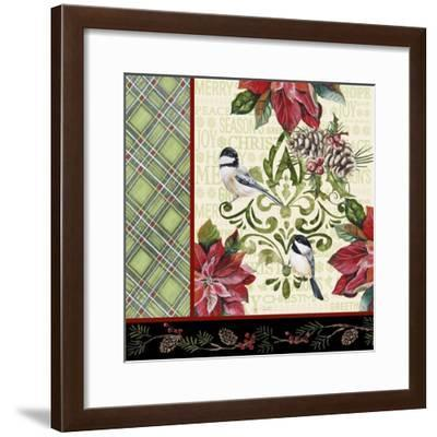 JP3311-Chickadee Holiday-Jean Plout-Framed Giclee Print