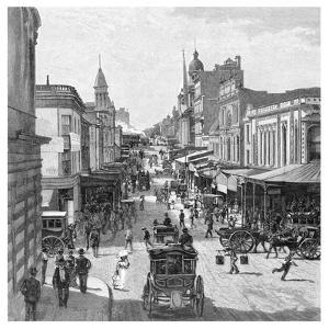 King Street, Sydney, New South Wales, Australia, 1886 by JR Ashton
