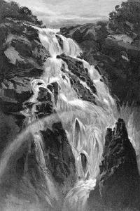The Barron Falls Near Cairns, Queensland, Australia, 1886 by JR Ashton