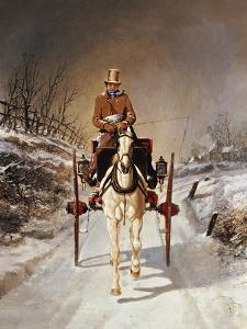A Winter's Drive, 1862 by Jr Benjamin Herring