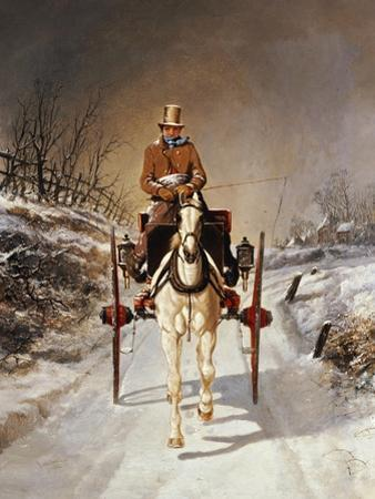 A Winter's Drive, 1862 by Jr Herring