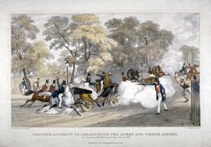 Assassination Attempt Against Queen Victoria, Constitution Hill, Westminster, London, 1840 by JR Jobbins