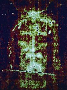 This is a Computer-Enhanced Image of the Face on the Shroud of Turin by Jr Victor R. Boswell