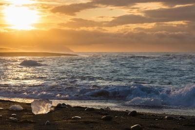 Jškulsarlon, Iceberg Remains on the Atlantic Beach-Catharina Lux-Photographic Print