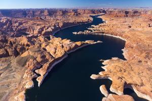 Aerial View of Lake Powell, Near Page, Arizona and the Utah Border, USA, February 2015 by Juan Carlos Munoz