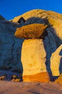 Toadstool Shaped Hoodoo at Sunset by Juan Carlos Munoz