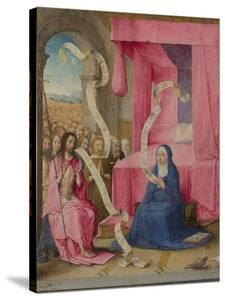 Christ Appearing to the Virgin with the Redeemed of the Old Testament, C. 1500 by Juan de Flandes