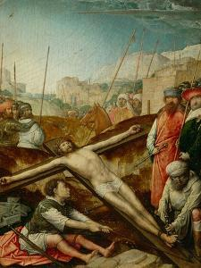 Christ nailed to the cross by Juan de Flandes