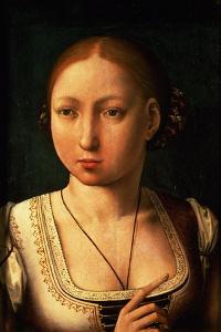 "Juana or Joanna of Castile, Called ""The Mad"" (1479-1555) Daughter of Ferdinand II of Aragon by Juan de Flandes"