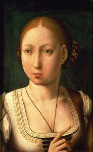 "Juana or Joanna of Castile, Called ""The Mad"" (1479-1555) Daughter of Ferdinand II of Aragon by Juan de Flandes"