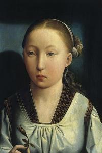 Portrait of Catherine of Aragon, C. 1496 by Juan de Flandes