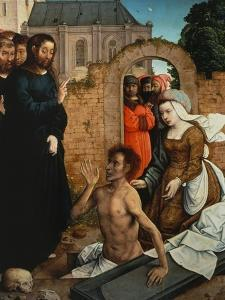 Raising of Lazarus by Juan de Flandes
