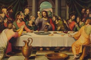 'La Sagrada Cena', (he Last Supper), 1562, (c1934) by Juan De Juanes