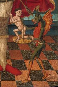 The Archangel Michael Weighing the Souls of the Dead (Detail) by Juan de la Abadía the Elder