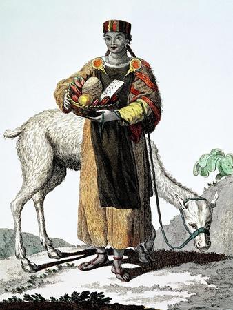 India Del Perú, Colección de Trajes, 1777, Grabado, Colección Privada, Francia
