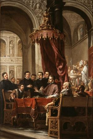 The Conversion and Baptism of St. Augustine by St. Ambrose, 1673
