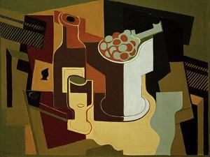 Bouteille et Compotier (Bottle and Fruit Bowl), 1920 by Juan Gris