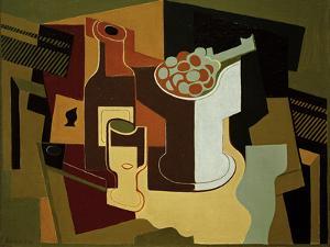 Bouteille et Compotier (Bottle and Fruit Bowl), 1920 by Juan Gris