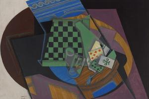 Checkerboard and Playing Cards, 1915 by Juan Gris