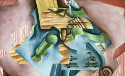 Double Bass and Vase by Juan Gris