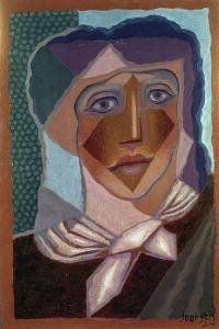 Femme à L'écharpe (Woman with Neck Scarf), 1924 by Juan Gris