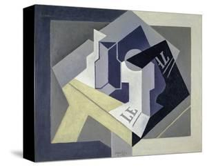 Fruit Bowl and Newspaper, 1920 by Juan Gris
