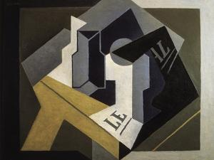 Fruit Bowl and Newspaper by Juan Gris