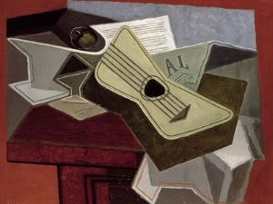 Guitar and Newspaper, 1925 by Juan Gris