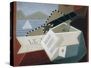 Guitar Facing the Sea by Juan Gris